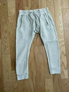 KITH CRYSTAL WASH BLEEKER SWEATPANT WHITE PEPPER US MENS SZ M joggers rare new