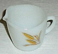 """Fire King Creamer WHEAT Milk Glass 3"""" Vtg 1966 Anchor Hocking"""