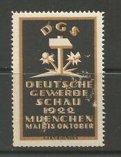 Germany/Munich 1922 German Craft Fair poster stamp/label