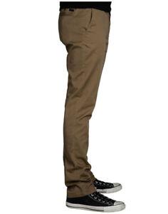 $65 KR3W Men's Slim Straight Chino Jeans Tobacco Size 31