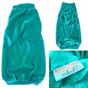 Turquoise Velvet - Sphynx Cat Top, Devon Rex, Peterbald, Pet Cat Clothes