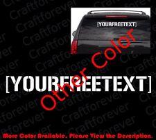Personalized/Custom Hooligan/Hoonigan Style Free Text Vinyl Decal Sticker Ft007