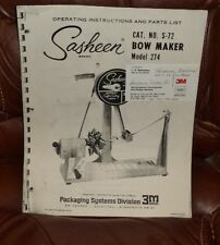 New listing Digital Pdf Instruction Book By 3M Sasheen S-72 Bow Maker