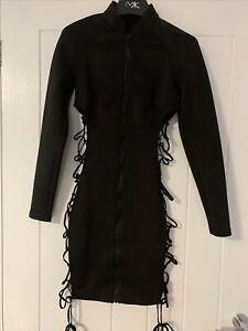 Mistress Rocks LA Black Lace Tie Side Dress. Ladies Size S