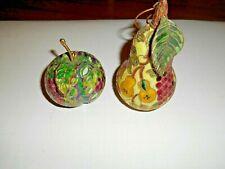 """""""Rare"""" Kitchen Decorative Metal Fruit: *2 Unique Pieces* ] No Breaks or Defects!"""