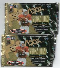 2 SEALED 1998 SKYBOX PREMIUM AUTOGRAPHICS HOBBY NFL PACKS MANNING R/C? MARINO?