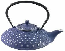 Buckingham Pimple Pattern Tetsubin Japanese Style Cast Iron Teapot 800ml BLUE