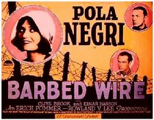 Barbed Wire - 1927 - Lee Pola Negri Clive Brook - Vintage b/w Silent Film DVD