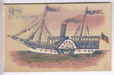 CPA  FANTAISIE TRANSPORT -  BATEAU VAPEUR A AUBE FLEUR STEAMER BOAT 1910  ~C51