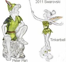 Lot Of 2011 Swarovski Limited Edition Peter Pan  Tinkerbell & Plaque NEW