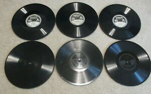 6 Edison Diamond Disc records 50381, 51115, 80089, 80061, 50949, He Lifted Me