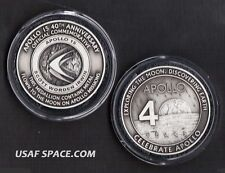 NASA APOLLO 15 - FLOWN TO THE MOON - COMMEMORATIVE 40TH ANNIVERSARY MEDALLION -