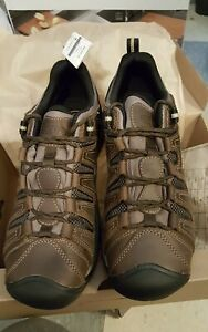KEEN Utility Flint II Soft Toe Work Shoe Cascade Brown/Golden Rod size 11