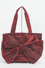 9 STYLISH QUALITY DESIGNER TAFFETA HANDBAGS WITH LARGE BOW IN BLACK, RED & BLUE