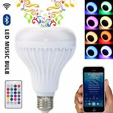 24 keys Remote E27 12W LED RGB Lamp Light Wireless Bluetooth Speaker Music Blub