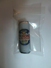 Peroni Italian beer can shaped promo metal lapel pin brewery white import New!