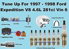 Tune Up Kit for 1997-1998 Ford Expedition Vin6 Spark Plug Wire Set, Belt, Filter