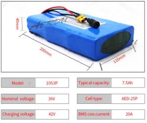 36V 10S3P 42V 7.5Ah Ultra thin | Skateboard Scooter Ebike battery