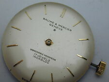 VINTAGE 1950S BAUME & MERCIER 17 JEWELS RUNNING WRIST WATCH MOVEMENT AND DIAL