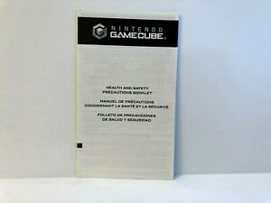 Gamecube Health Safety Precautions Booklet 45749E INSERT ONLY Authentic Insert