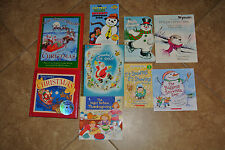 Lot of 9 Christmas Picture Books night before X'mas frosty snowman
