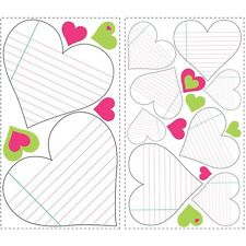 HEARTS DRY ERASE BOARD WALL STICKERS Notepad Stickers Bedroom Dorm Decor NEW