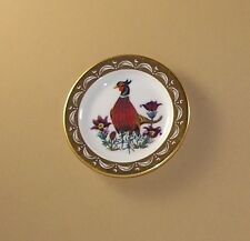 State Birds and Flowers Miniature Plate South Dakota Ring-necked Pheasant Pasque