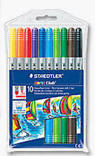 Staedtler Noris Club Fibre Pens with 2 Tips  Pack of 10