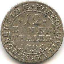 ALLEMAGNE MUHLHAUSEN 1/12 THALER 1706 RARE