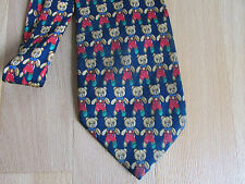 TEDDY Bear in Red Dungarees 100% Silk Tie by Beaufort Tie Rack Made in Italy