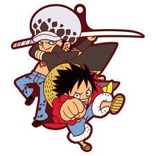 One Piece Luffy and Law Pairs Rubber Key Chain Anime Manga New