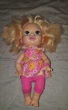 Hasbro Baby Alive Snackin Sara Doll Blonde English Spanish Talking Outfit 2014