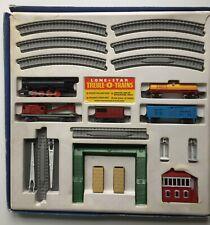 uncommon Lone Star Treble 0 Trains Train Set in original box push-a-long