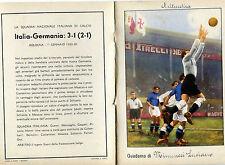 QUADERNO PIRELLI SCHIAVIO CALCIO FOOTBALL ITALIA GERMANIA,1933 BOLOGNA LITTORIAL