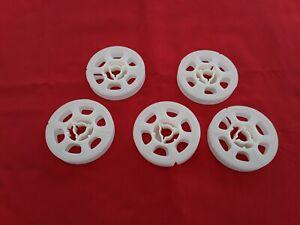 5   *NEW*  SUPER 8 50' PLASTIC  REELS     (WHITE)