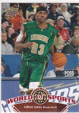 Lebron KING James IRISH HIGH SCHOOL Basketball Card WORLD OF SPORTS Upper Deck