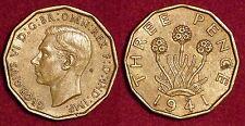 3 pence 1941 IND IMP George VI GREAT-BRITAIN Grande-Bretagne
