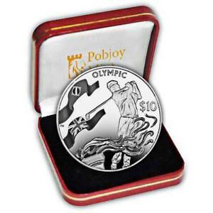 British Virgin Islands 2016 Rio de Janeiro Olympics Proof Silver Golf Coin