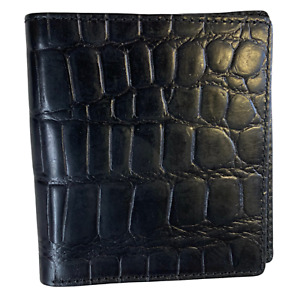 **SALE** Tony Perotti Italian Leather Black Croc Wallet
