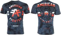 AMERICAN FIGHTER Mens T-Shirt SILVER LAKE Athletic NAVY CRYSTAL WASH Gym $40 NWT