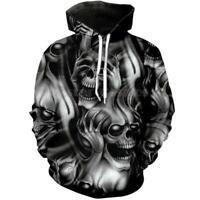 Schädel Totenkopf Skull Streetwear Kapuzen Sweatshirt Hoodie Hooded Pullover