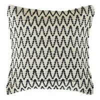 """Indian Hand Woven Chindi Cushion Cover 18X18"""" Vintage Rug Throw Pillow Cases"""