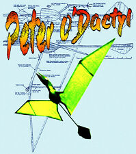 "PTERODACTYLIS Freeflight Towline or .010 Power 60"" F/S Printed Plans & Notes"