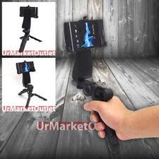 Black Universal Portable Handheld Tripod & Phone Adapter Fit Sony Xperia S LT26i