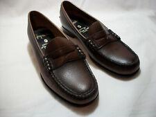 Vintage New Original Gaymode Brown Genuine Hand Sewn Penny Loafers 7 B