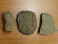 Pierres & Poterie Gravées. Guerriers, Archer. Archéologie Amérindien Mésopotamie