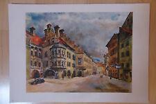 Hofbräuhaus -- 10 Farben - Kupfertiefdruck -- nach - Rudolf Trickl -München