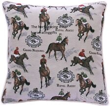 Horse Racing Themed Lovely Quality Tapestry Finish Cushion Cover Branded Product