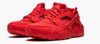 Nike Huarache Run University Red Big Boy's Running Shoes 654275-600 Sz 4Y-7Y