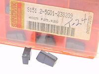 New Surplus 10pcs. Sandvik  S151.2-5G01-238209  Grade: 4025  Carbide Inserts